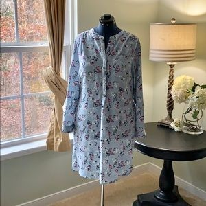 Attention Baby Blue Shirt Dress Size XXL